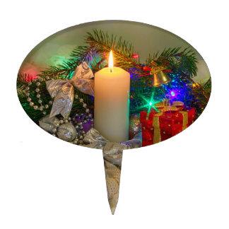 Vela del navidad decoración para tarta