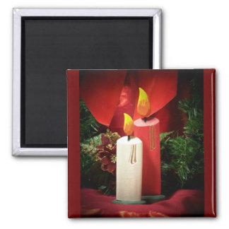 Vela del navidad imanes para frigoríficos