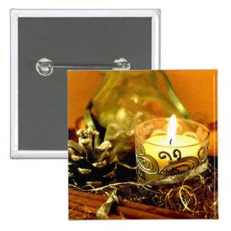 Vela del navidad pin cuadrada 5 cm