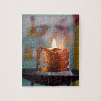 Vela del navidad puzzle