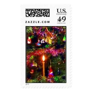 Vela del navidad sello postal