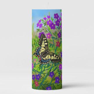 Vela del pilar de la mariposa de Papilio