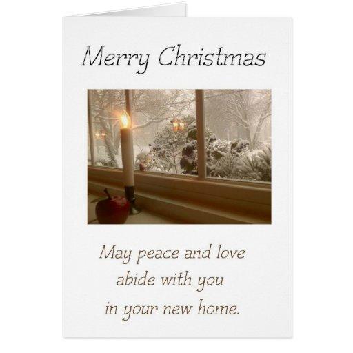 Vela en la ventana - Felices Navidad - nuevo hogar Tarjeta De Felicitación