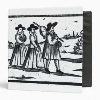 Vela fijada peregrinos en el Mayflower