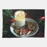 Vela III de la galleta del navidad Toalla De Cocina