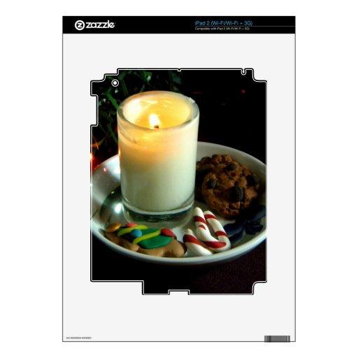 Vela IV de la galleta del navidad Calcomanías Para iPad 2