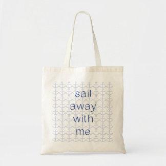 Vela lejos conmigo bolso bolsa lienzo
