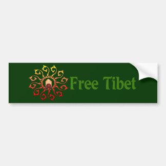 Vela libre de Tíbet Pegatina De Parachoque