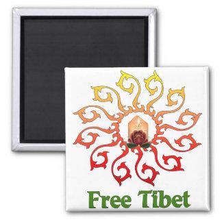 Vela libre de Tíbet Imán Cuadrado