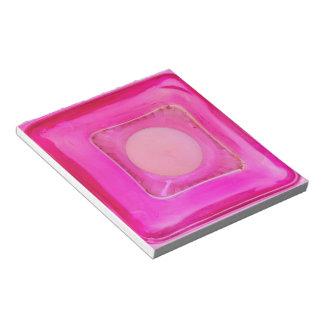 Vela, luz de una vela rosada dulce del amor bloc de notas