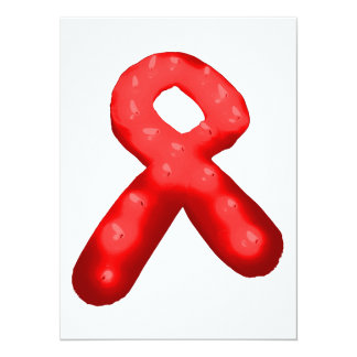 """Vela roja de la cinta de la conciencia invitación 5.5"""" x 7.5"""""""