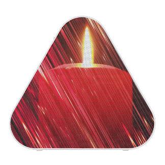 Vela roja en la lluvia altavoz bluetooth