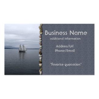 Vela solitaria plantilla de tarjeta de negocio