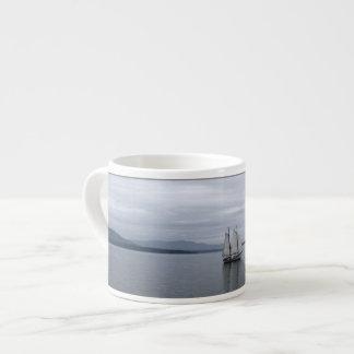 Vela solitaria taza de espresso