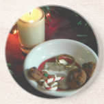 Vela V de la galleta del navidad Posavasos Manualidades