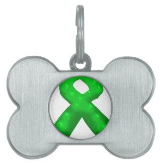 Vela verde de la cinta de la conciencia placas de mascota