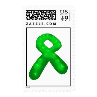 Vela verde de la cinta de la conciencia sellos
