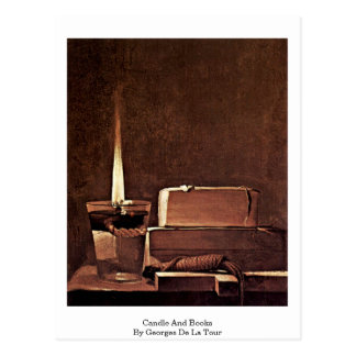 Vela y libros de Georges de La Tour Tarjeta Postal
