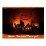 Velas 1 de Halloween Postal