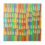 Velas coloridas azulejos cerámicos
