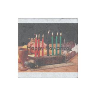 velas coloridas de paz y de esperanza imán de piedra