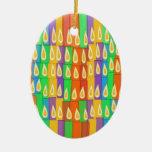 Velas coloridas ornamento para arbol de navidad