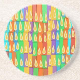 Velas coloridas posavasos manualidades