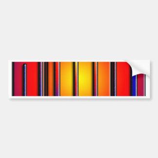 Velas coloridas primarias para el cumpleaños pegatina para auto