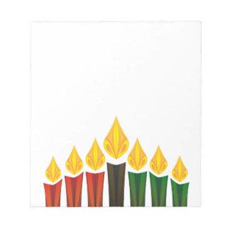 velas de Kwanzaa Bloc De Notas