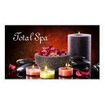 Velas de la tarjeta de visita del salón del masaje