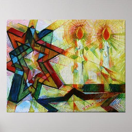 Velas de Shabbat Impresiones