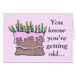Velas de tarjeta de cumpleaños divertida
