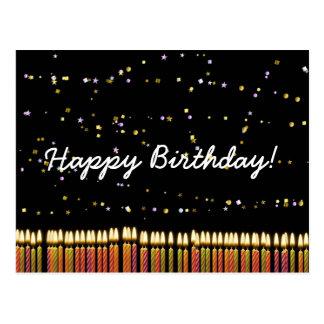 Velas del cumpleaños del feliz cumpleaños postales