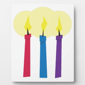 Velas del cumpleaños placas con fotos