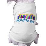 Velas del cumpleaños playera sin mangas para perro
