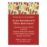 Velas del cumpleaños - rojo invitación