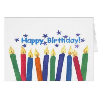 Velas del cumpleaños tarjeta de felicitación