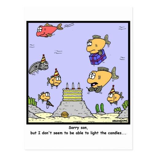 Velas del cumpleaños tarjeta postal