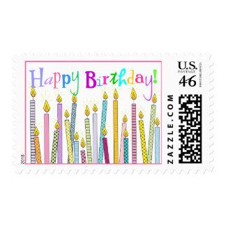 ¡Velas del feliz cumpleaños a montones
