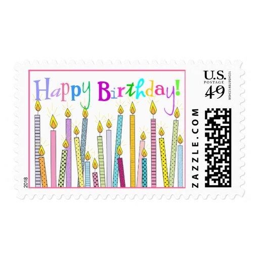 ¡Velas del feliz cumpleaños a montones! Sellos