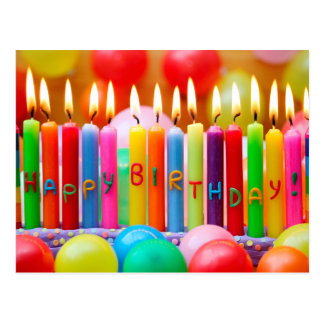 Velas del feliz cumpleaños tarjetas postales