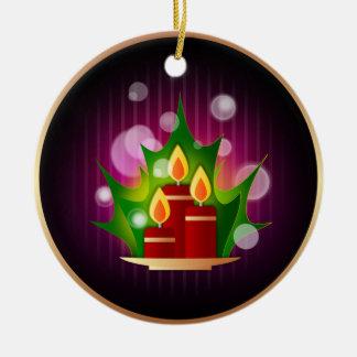 Velas del navidad adorno navideño redondo de cerámica