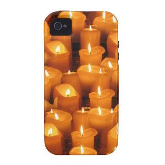 Velas del navidad del advenimiento Case-Mate iPhone 4 funda