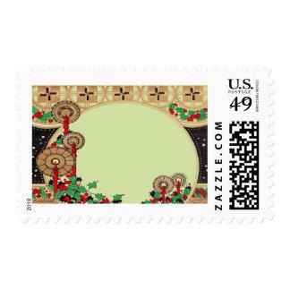 Velas del navidad del art déco sellos