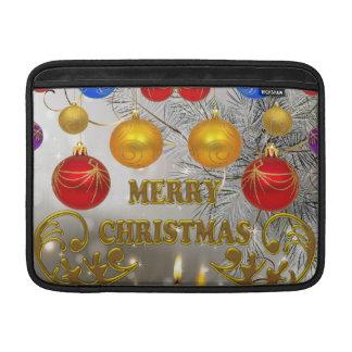 Velas del navidad del oro y de la plata y bulbos c fundas para macbook air