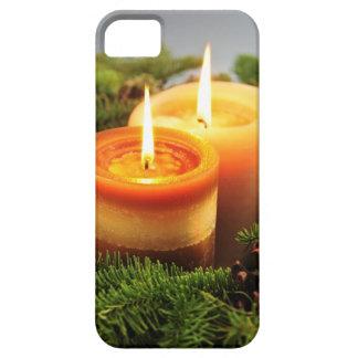 Velas del navidad iPhone 5 Case-Mate funda