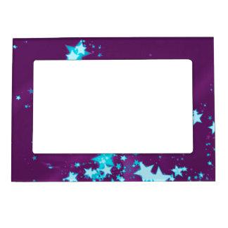 velas del navidad púrpuras marcos magnéticos de fotos