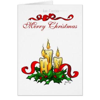 Velas del navidad tarjeta de felicitación