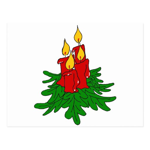 velas del navidad tarjetas postales