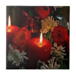 Velas del navidad tejas  ceramicas